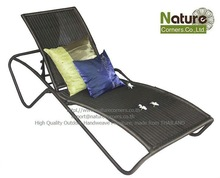 Stackable outdoor chaise lounger