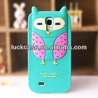 Custom silicone case for samsung galaxy s4,cartoon owl shaped phone case for samsung i9500