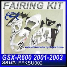 Motorcycle Fairing Kit For SUZUKI GSXR750 GSXR 600 2001-2003 WHITE CORONA 2 FFKSU002
