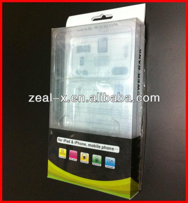 A-level Hign-end Transparent Plastic PVC Cellphone Case Boxes With PVC Insert