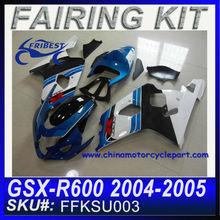 ABS Fairings For SUZUKI GSXR 750 GSXR 600 2004-2005 BLUE&WHITE OEM FFKSU003