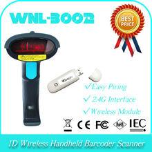 UPC WNL-3002 1D Wireless 2.4GHz Handheld QR code Barcode Reader Scanner identify decoder