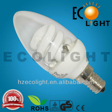 Candle Shape!Hot Sell Candle Energy Saving Lamp Clear Candle CFL bulb 5/7/9w