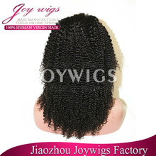 new style middle part natural hairline brazilian virgin hair kinky curl wig glueless natural kinky curl half wig in stock