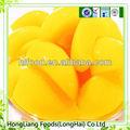 frais conserve jaune peach dans un sirop léger