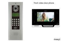 7inch color multi apartment video door phone intercom system