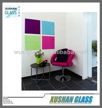Magnetic glass dry erase board 40 cm x 40 cm, glass whiteboard