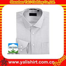 2015 top quality cheap one pockets blank long sleeve office best men dress shirt brands