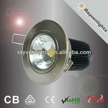 australian standard 12w led clip ceiling light chrome 92mm cut out round