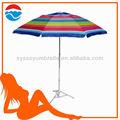 210cm*8k de acero recta paraguas al aire libre con la luz