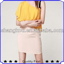 china wholesale dress women 2014 fashion one spaghetti strap wrap silky woman dress