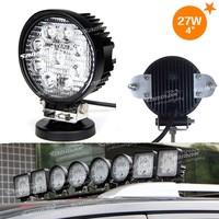 "4"" 27W spot Flood Beam 12V Led round headlight for motorcycle SM6272"