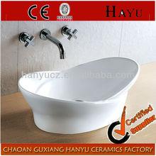 HY-458 Uinque design bathroom ceramic counter top basin