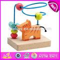 2015 nova brinquedo do bebê de madeira contas, Populares do bebê Mini círculo de madeira labirinto brinquedos talão, Venda quente do bebê educacional toy beads W11B023