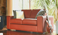 love sex seat red leather recliner sofa modern image 9060-1