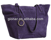 2013 New product woman purple suede leather handbags bags/ladies designer tote bag/brand bags manufacturer Guangzhou MX8112-3