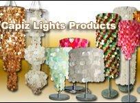 Capiz Shell Floor Lamps Lighting Fixture Collection