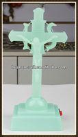 plastic religious resin luminated jesus statue