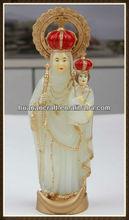 luminous religious resin holy family statue
