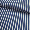 Yarn-dyed 100% cotton classical navy blue and white stripe fabric for shirt