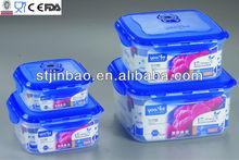 4 in 1 Square 3.6L/2.1L/1.1L/500ML Plastic Vacuum storage box