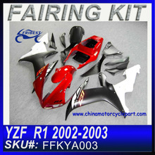 Fairing Motorcycle For YAMAHA R1 2002-2003 RED SLIVER FFKYA003