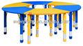 Crianças tabela, grande mesa redonda, mesas e cadeira para o jardim de infância