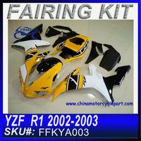 Motorcycle Fairings cheap For YAMAHA R1 2002-2003 YELLOW FFKYA003