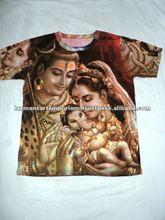 hindu god designs t-shirts shiva family