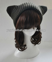Baby Hat Children Kids Funny Winter Knitted Hats with hair Label