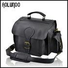 2014 vintage leather camera bag black good quality cow skin bag