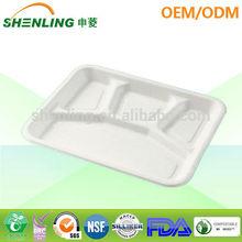 biodegradable disposable dessert tray 4 comp.