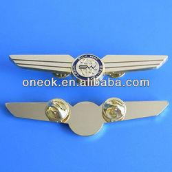 Metal Soft Enamel Pins Badge/Metal Pilot Wings Pin Badge