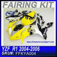 Motorcycle body Kits For YAMAHA R1 2004-2006 YELLOW RACE FFKYA004