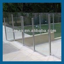 aluminum bridge railing,balconies in glass,frameless glass deck railing
