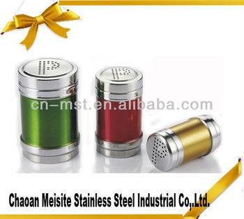 stainless steel colourful cruet set