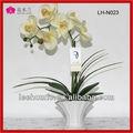 popular artificial orchid hotel decoração arranjos de flores com vaso