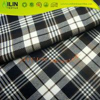 TR yarn dyed checks making shirting fabric