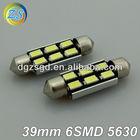 new led car light canbus 5630 smd 39mm