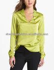 Angle collar ladies blouse design 2014 xxl CNA0091