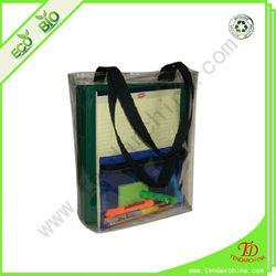 clear PVC shopping handbag