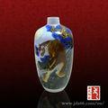 leão desenho antigo de pintura em cerâmica vaso