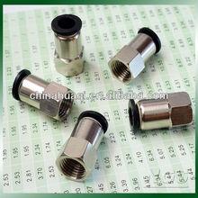 Níquel chapado de rosca para mujer neumática conector PCF4-M5 PCF6-02 PCF8-02 PCF10-03 PCF12-04 PCF16-04