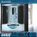 Eine person dampfbad/glas dampfdusche zimmer/computer- kontrolle hs-sr035 dampfbad