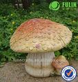 Jardim decorativo cogumelo resina ornamento