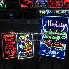 Glowing drawing billboard full colour message board Ce& Rhs flashing Acrylic LED Writing board