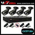 wetrans 850 tvl 4ch baratos cctv de vigilancia de los sistemas