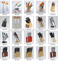 kitchen knife set with holder