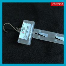 supermarket PP injection plastic clip strip for hanging