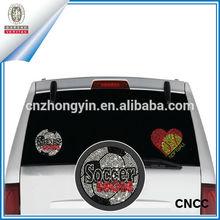 Soccer rhinestone removable car window decals